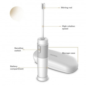 Xiaomi Deerma Egg Beater Mixer Telur Foamer Stirrer Milk Frother - JB01 - White - 6