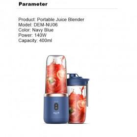 Xiaomi Deerma Blender Buah Wireless Portable Juicer 400ML - DEM-NU05 - Navy Blue - 6