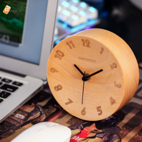 Xiaomi Bela Design Wood Alarm Clock Jam Alarm Kayu About Time - TC1817 - Brown