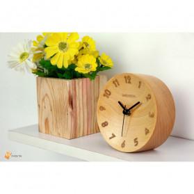 Xiaomi Bela Design Wood Alarm Clock Jam Alarm Kayu About Time - TC1817 - Brown - 2
