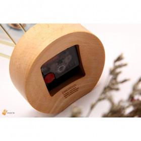 Xiaomi Bela Design Wood Alarm Clock Jam Alarm Kayu About Time - TC1817 - Brown - 3