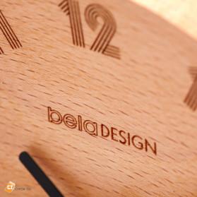 Xiaomi Bela Design Wood Alarm Clock Jam Alarm Kayu About Time - TC1817 - Brown - 5