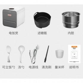 Xiaomi Zhenmi Rice Cooker Desaturated Health Penanak Nasi Rendah Gula 3L - X2 - White - 8