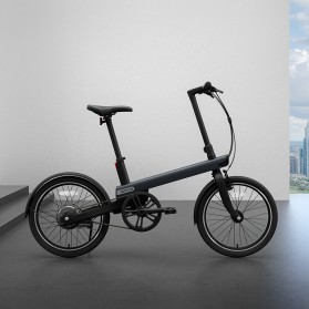 Xiaomi QiCycle EC1 Sepeda Elektrik Smart Bicycle 20 Inches - TDP02Z - Black
