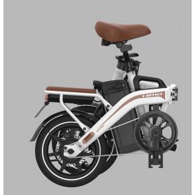 Xiaomi HIMO Z14 Sepeda Lipat Elektrik Smart Moped 350W 15Ah Urban Edition - Gun Black - 5