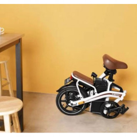 Xiaomi HIMO Z14 Sepeda Lipat Elektrik Smart Moped 350W 15Ah Urban Edition - Gun Black - 6