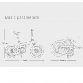 Xiaomi HIMO Z20 Sepeda Lipat Elektrik Smart Moped Bicycle 250W 80KM - White - 6