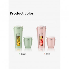 Xiaomi Zhenmi Botol Minum Blender Buah Portable Vacuum Juicer Cup 300ml - J1 - Green - 13