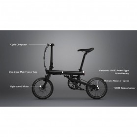 Xiaomi QiCycle EF1 Sepeda Elektrik Lipat Smart Bicycle (China Version) - TDR01Z - Black - 3