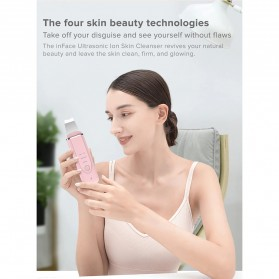 Xiaomi InFace Pembersih Wajah Elektrik Ultrasonic Facial Skin Ion Acne Skin Cleanser - MS7100 - Black - 3