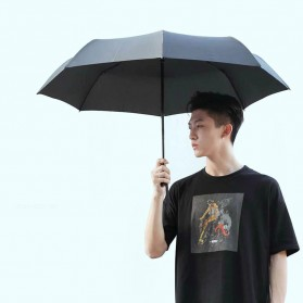 XIAOMI MIJIA Pinluo Payung Lipat Otomatis Portable Windproof Anti UV Umbrella  -  PLZDS04XM - Black - 4