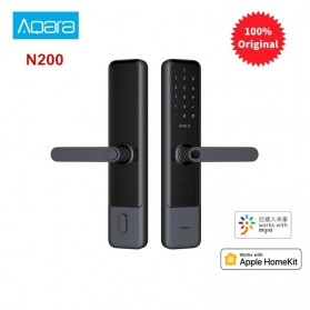 Xiaomi Aqara Smart Door Lock Keyless Bluetooth Fingerprint Kunci Pintu Rumah - N200 - Black - 1