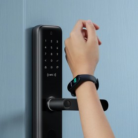 Xiaomi Aqara Smart Door Lock Keyless Bluetooth Fingerprint Kunci Pintu Rumah - N200 - Black - 4