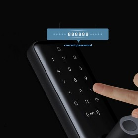 Xiaomi Aqara Smart Door Lock Keyless Bluetooth Fingerprint Kunci Pintu Rumah - N200 - Black - 6