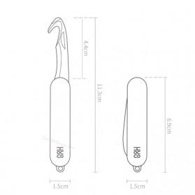 Xiaomi Mijia Huohou Pisau Cutter Mini Fold Fruit Knife Camp Tool - HU0036 - Black - 8