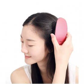 Xiaomi Youpin Yueli Sisir Elektrik Ion Pelurus Rambut Anion Massage Hair Comb - Red - 2