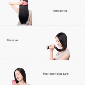 Xiaomi Youpin Yueli Sisir Elektrik Ion Pelurus Rambut Anion Massage Hair Comb - Red - 6