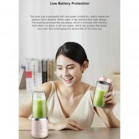 Xiaomi Deerma Blender Buah Wireless Portable Juicer 400ML - DEM-NU05 - Baby Pink - 3