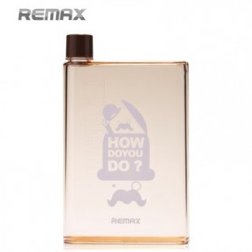 Remax A5 Letter Reusable Water Bottle 420ml - RCUP-N420 / Botol Minum - Coffee