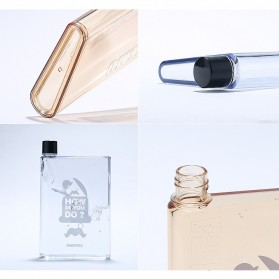 Remax A5 Letter Reusable Water Bottle 420ml - RCUP-N420 / Botol Minum - Coffee - 5