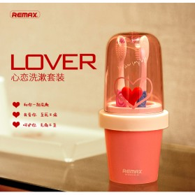 Remax Toohbrush Heart Love Wash Suit Couple - RCUP-12 / Tempat Sikat Gigi - Yellow - 8