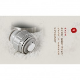 Remax Botol Thermos Retro 600ml - RT-CUP60 - Black - 8