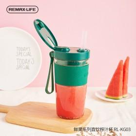 Remax Life Botol Minum Blender Buah Portable Juicer Mini Cup 300ml - RL-KG03 - Green