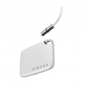Smart Tracking - Baseus T2 Mini Rope Type Gantungan Anti Hilang Key Finder Locator - ZLFDQT2-02 - White