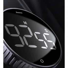 Baseus Heyo Rotation Timer Masak Dapur Magnetic Digital Countdown Alarm - ACDJS-01 - Black - 10