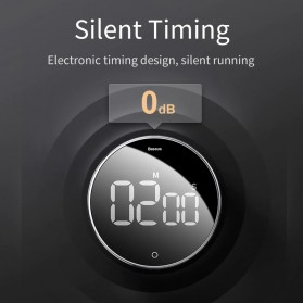 Baseus Heyo Rotation Timer Masak Dapur Magnetic Digital Countdown Alarm - ACDJS-01 - Black - 2