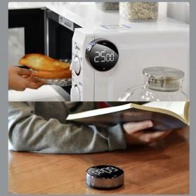 Baseus Heyo Rotation Timer Masak Dapur Magnetic Digital Countdown Alarm - ACDJS-01 - Black - 6