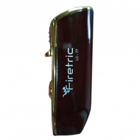 Firetric Torch Lighter Triple Jet Flame with Cigar Punch - LC-77 - Golden