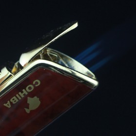 Firetric Torch Lighter Triple Jet Flame with Cigar Punch - LC-77 - Golden - 4