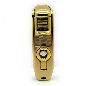 Firetric Torch Lighter Triple Jet Flame with Cigar Punch - LC-77 - Golden - 6