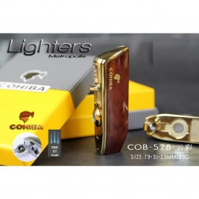 Firetric Torch Lighter Triple Jet Flame with Cigar Punch - LC-77 - Golden - 7