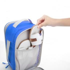 BUBM Tas Travel Bag in Bag Organizer untuk Sepatu & Sandal - TXDX - Blue - 2