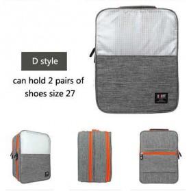 BUBM Tas Travel Double Layer Organizer untuk Sepatu & Sandal - TXD-D - Gray
