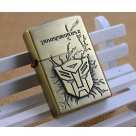 Korek Elektrik Besi Motif Transformers - Golden