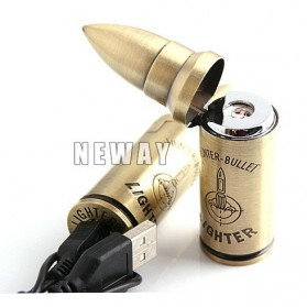 Korek Elektrik Besi Bullet Edition - Golden - 3