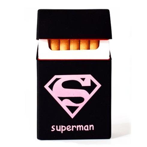 Cover Kotak Rokok Silicone Motif Superman Black