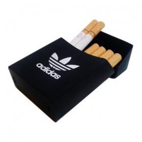Korek Elektrik & Korek Api - Cover Kotak Rokok Silicone Motif Adidas - Black