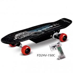 Electric Skateboards 150 Watt with Wireless Remote - FD24V-150C - Black