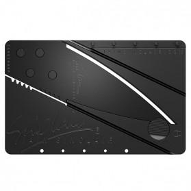 Sinclair 2 Cardsharp Pisau Lipat Kartu Hidden Portable Knife Credit Card Survival Tool EDC - Black - 2