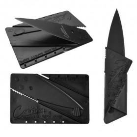 Sinclair 2 Cardsharp Pisau Lipat Kartu Hidden Portable Knife Credit Card Survival Tool EDC - Black - 3