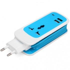 EXBO Stop Kontak Colokan Listrik Universal dengan 2 USB Port - EXBO-S15 - Black - 4