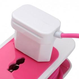 EXBO Stop Kontak Colokan Listrik Universal dengan 2 USB Port - EXBO-S15 - Black - 8