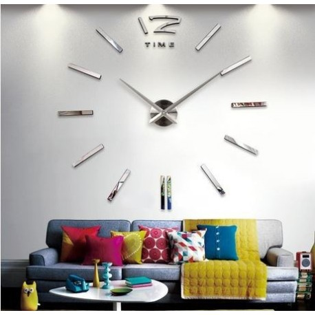 3D Giant Wall Clock   Jam Dinding - WT0025 - Black - JakartaNotebook.com 82dc582d81