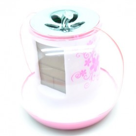 Apple Nature Sound Color Change Clock - Pink