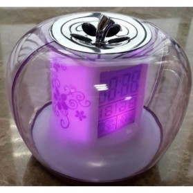 Apple Nature Sound Color Change Clock - Purple