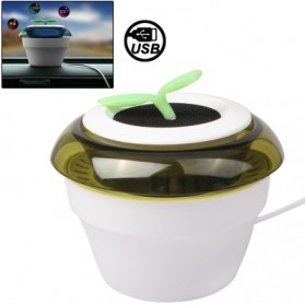 USB Powered Peace Grass Car Air Purifier - HHZ-0116 - White